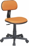 OSP Designs Armless Computer Task Chair with Seat Height Adjustment and Casters - Orange [499-18-FS-OS]