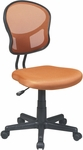 OSP Design Mesh Task Office Chair with Seat Heigh Adjustment and Casters - Orange [EM39800-18-FS-OS]