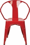 OSP Designs Patterson 30'' Metal Chair - Set of 2 - Red [PTR2830A2-9-FS-OS]