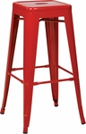 OSP Designs Patterson 30'' Steel Backless Barstool - Set of 2 - Red [PTR3030A2-9-FS-OS]