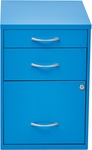 OSP Designs 3-Drawer Storage Cabinet with Locking Filing Drawer - Blue [HPBF7-FS-OS]