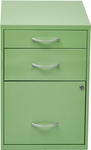 OSP Designs 3-Drawer Storage Cabinet with Locking Filing Drawer - Green [HPBF6-FS-OS]