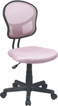 OSP Design Mesh Task Office Chair with Seat Heigh Adjustment and Casters - Pink [EM39800-261-FS-OS]