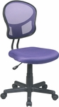 OSP Design Mesh Task Office Chair with Seat Heigh Adjustment and Casters - Purple [EM39800-512-FS-OS]