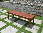 5' Outdoor Backless Bench with Rolled Sides and Slat Seat [V437-FS-VIF]