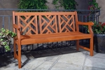 5' Outdoor Herringbone Back Bench with Arms and Contour Slat Seat [V188-FS-VIF]