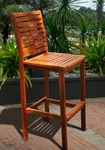 Dartmoor Outdoor Ladder Back Armless Bar Stool with Wide Footrest [V495-FS-VIF]