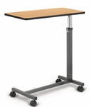 Over bed Table with Oak laminate and Black Edging- 15''W X 30''L X 28 - 45''H [HAU-3400-FS-HAUS]