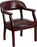 Oxblood Vinyl Luxurious Conference Chair [B-Z105-OXBLOOD-GG]