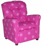 Kids Recliner with Button Tufted Back - Oxygen Pink [400-OXYGEN-PINK-FS-BZ]