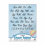 Pacon Colored Paper Charts -Cursive Cover -1'' Ruled -24'' x 32'' -Assorted [PAC74731-FS-SP]