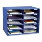 Pacon Mail Box - 10 Slots - 12 -1/2'' x 10'' x 3'' - Blue [PAC001309-FS-SP]