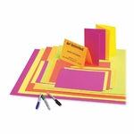 Pacon Poster Board - 12 Pt. - 22'' x 28'' - 25/CT - Neon PK/YwithOE/GN [PAC104234-FS-SP]