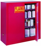 43'' W x 18'' D x 44'' H Counter Height Paint and Ink Storage Cabinet - Red [PC40-EEL]