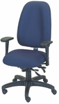 Palisades 24'' W x 22'' D x 39.5'' H Adjustable Height and Width High-Back Chair with Executive Control [E-50184-FS-EOF]