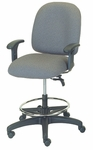 Palisades 24'' W x 22'' D x 43'' H Adjustable Height and Width Mid-Back Chair with Deluxe Control and Stool Conversion [E-50152-ST-FS-EOF]