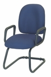 Palisades Mid-Back Guest Chair with Sled Base - Black Base [E-50150C-FS-EOF]