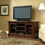 Palladia 59''W x 28''H Wooden Entertainment Credenza with 2 Tempered Glass Doors - Select Cherry [411865-FS-SRTA]