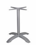 Palm 4 Aluminum Table Base with Arched X Shape - Anodized Silver [SC-1002-583-ANS-SCON]