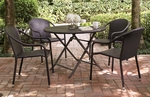Palm Harbor Outdoor Wicker Stackable Chairs - Set of 4 [CO7109-BR-FS-CRO]