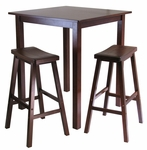 Parkland 3-Pc High Table Set with 2 Saddle Seat Stools [94349-FS-WWT]