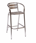 Parma Outdoor Aluminum Barstool - Arms [MS0063-BFMS]