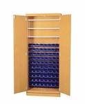 Parts Storage Cabinet with 80 Bins [PSC-80-SHA]