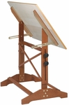 Pavillion Art and Drawing Table Unfinished Wood Top - 36''W [AP436-FS-ALV]