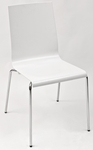 Pedrali Stackable White Shell Indoor Chair [KUADRA-S-WHITE-FLS]