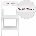 Personalized HERCULES Series White Wood Folding Chair with Vinyl Padded Seat [XF-2901-WH-WOOD-EMB-VYL-GG]