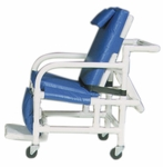 Standard 3-Position Reclining Geriatric Chair for Petite Persons with Casters - 22''W X 42''D X 45''H [518-PL-MJM]