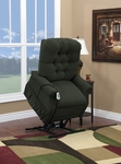 Two Way Petite Reclining Power Lift Chair with Matching Arm and Headrest Covers - Aaron Hunter Fabric [1555P-AAH-FS-MEDL]