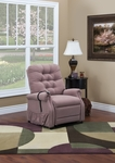 Two Way Petite Reclining Power Lift Chair with Matching Arm and Headrest Covers - Aaron Mauve Fabric [1555P-AAM-FS-MEDL]