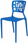Phoenix Outdoor Stackable Armless Side Chair - Blue [SC-2602-162-BLU-SCON]