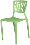Phoenix Outdoor Stackable Armless Side Chair - Green [SC-2602-162-GRN-SCON]