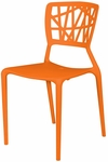 Phoenix Outdoor Stackable Armless Side Chair - Orange [SC-2602-162-ORG-SCON]