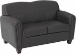 OSP Furniture Pillar Faux Leather Loveseat with Cherry Finish Legs - Espresso [SL2572U1-FS-OS]