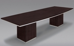 Pimlico 10' W Boat Top Conference Table - Mocha [7020-120-FS-DMI]