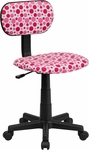 Pink Dot Printed Swivel Task Chair [BT-D-PK-GG]