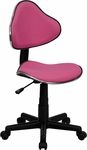 Pink Fabric Ergonomic Swivel Task Chair [BT-699-PINK-GG]