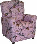 Kids Recliner with Button Tufted Back - Pink Snow [400-PINK-SNOW-FS-BZ]