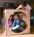 Birch Laminate 6 Sided Play House Cube - 2 Preschooler Capacity [WB0210-FS-WBR]