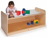 Play Table with Shatter Proof Acrylic Mirror Top and Ample Storage Underneath [WB9960-FS-WBR]