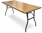 18''W x 72''D Plywood Folding Table with Locking Wishbone Style Legs [71000-MCC]
