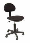 Deluxe Height Adjustable Task Chair with 5 Star Base and Casters - Black [18508-FS-SDI]