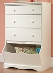 Pogo 47''H Chest of Drawers with Storage Bin - Soft White [414434-FS-SRTA]