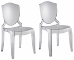 Polycarbonate Crystal Clear Chair-Set Of 2 [953S500Y-3A-2PC-FS-HOM]