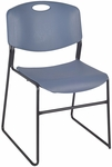 Zeng 31''H Armless Stackable Metal Frame Chair - Blue [4400BE-REG]