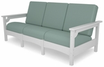 POLYWOOD® Club Sofa - White / Spa [PWCLC71WH-5413-FS-PD]
