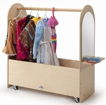 Portable Birch Laminate Dress-Up Rack with Casters [WB0475-FS-WBR]